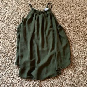 army green halter top